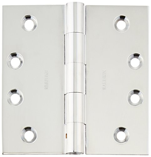 Baldwin 1040260INRP Non Removable Square Mortise Hinge, Bright Chrome