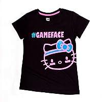 Hello Kitty Sports Girls Scoop Neck Training Tee, White, Size 4