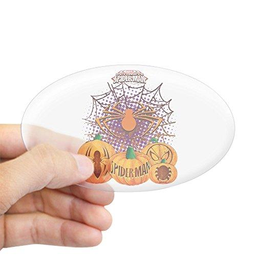 CafePress Spider Man Pumpkins Oval Bumper Sticker, Euro Oval Car Decal ()