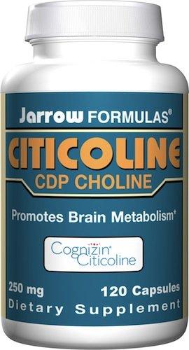 Jarrow Formulas Citicoline, CDP Choline, 250 mg, 120 comte