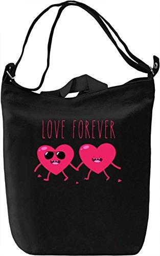Love Forever Borsa Giornaliera Canvas Canvas Day Bag| 100% Premium Cotton Canvas| DTG Printing|