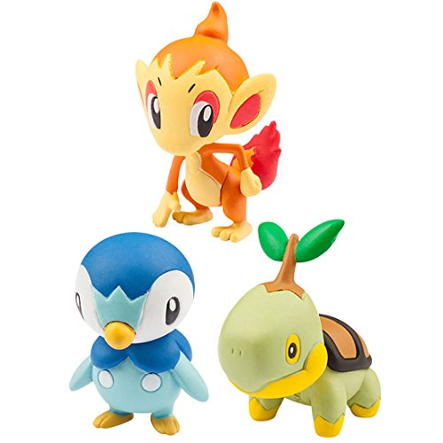 Takaratomy Pokemon 20th Anniversary Tabidachi No 3biki Vol. 4 Piplup, Chimchar, Turtwig Action Figure (Chimchar Pokemon)