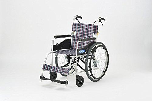 日進医療器 アルミ製車いす NEO-1 ノーパンクタイヤ 自走式 介助ブレーキ付き 軽量 車椅子 車イス B01FBGYO22