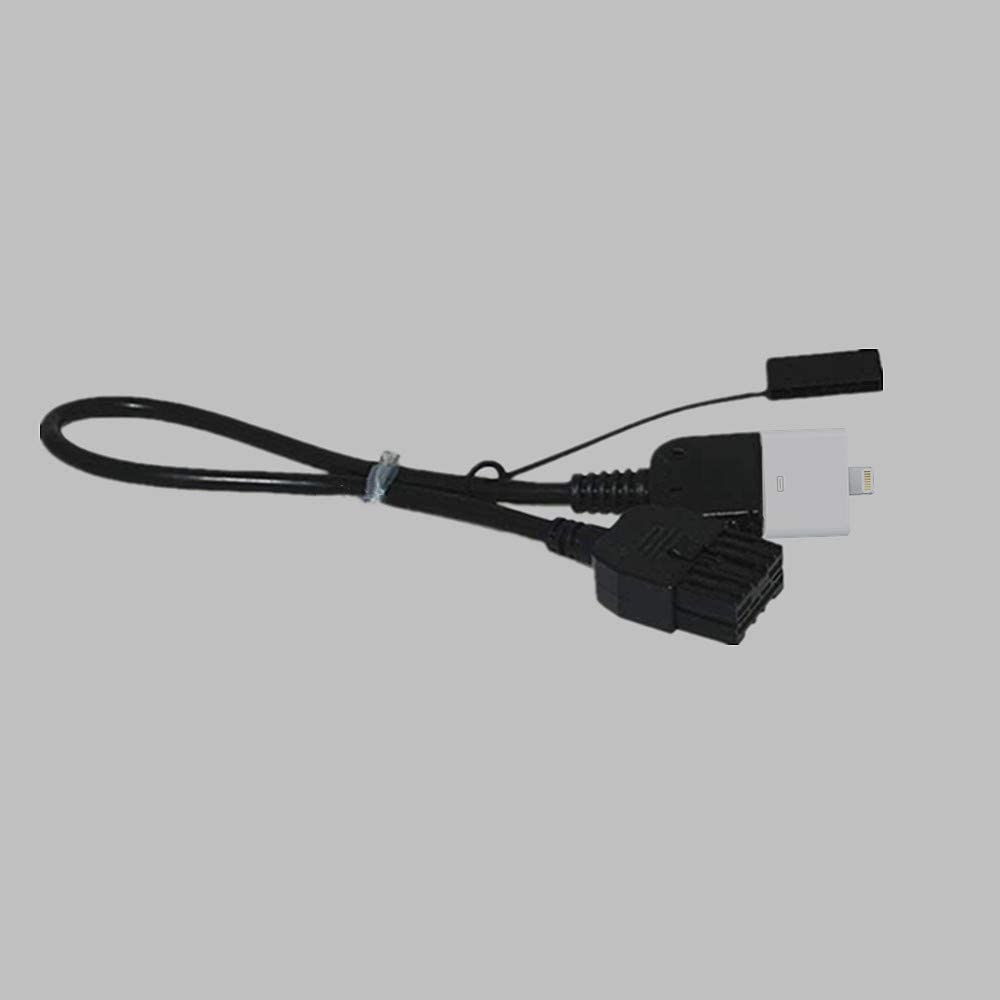 EX35 FX50 FX35 G25 G37 M35h QX56 M37 M56 Cube Maxima Murano Pod AUX Adapter Pod i4 i4s Music Interface Cable Compatible for Nissan Infiniti 2009-2013 Replacement Part 284H2-ZT50A