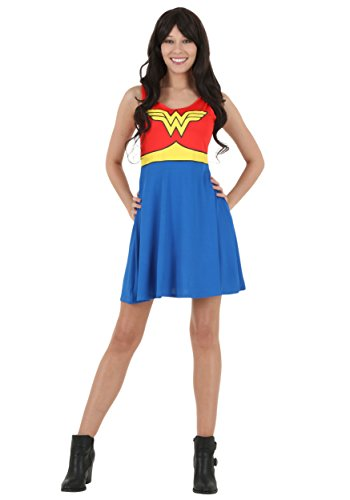 Dc Comics Dress (DC Comics Wonder Woman A Line Dress Medium)