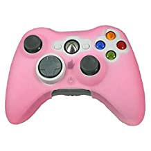 Lowpricenice(TM) New Quality Durable Silicone Skin Case Cover for XBOX 360 Game Controller (Pink)