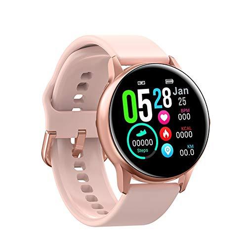 Smart Watch 1,3 Zoll Touchscreen IP68 Wasserdicht mit Pulsuhren Schrittzähler Armbanduhr Sportuhr Kompatibel mit Allen Systemplattformen