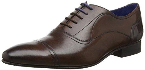 Ted Baker Mens Brown Leather Umbber Shoes Brown