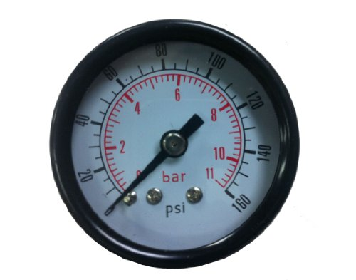 PneumaticPlus Air Pressure Gauge for Air Compressor WOG Water Oil Gas 1-1/2