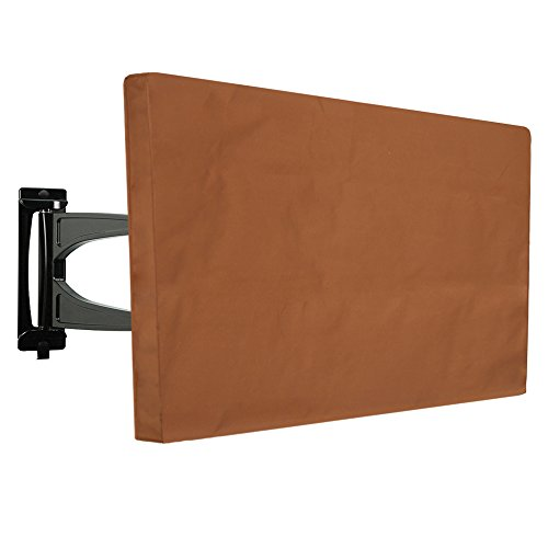 Outdoor TV Cover for 60'' - 65'' Brown Weatherproof Outsi...