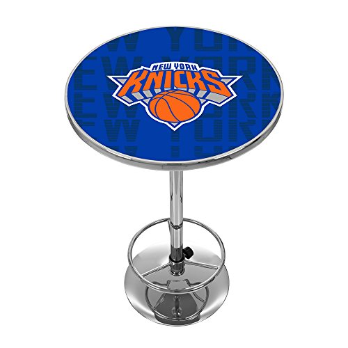 Trademark Gameroom NBA2000-NY3 NBA Chrome Pub Table - City - New York Knicks by Trademark Global
