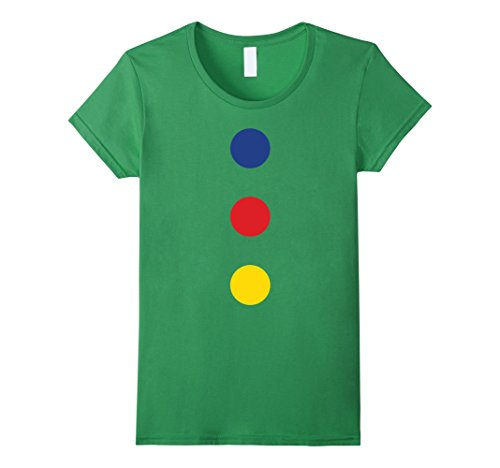 Womens Fast Halloween Clown Costume T-Shirt - Easy and Quick Small Grass