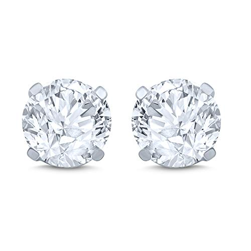 14k White Gold Diamond Stud Earring (1/4 cttw, J-K Color, I2I3 Clarity)