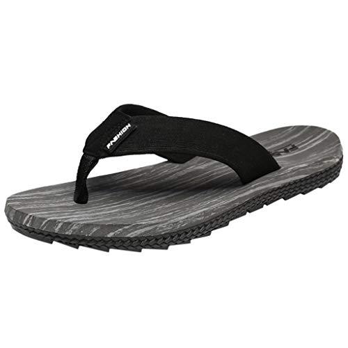 - Wkgre Men's Summer Pure Slippers Solid Flip Flops Sandals Male Slipper Flip-Flops Indoors Classic Shower Outdoor Shoes (8.5, Gray)