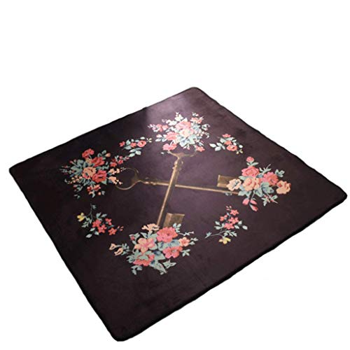 JHEY Palace Style Living Room Bedroom Rug Royal Style Classical Floor Mat Rectangular Carpet (Color : A, Size : 150150cm)
