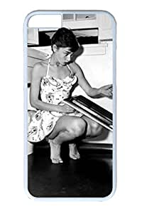 PC White Color Hard Case For iPhone 6 Plus New Version Case Suit iPhone6 Super Beautiful And Ultra thin case Easy To Operate Audrey Hepburn 223