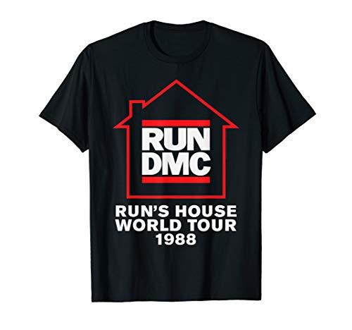 Run DMC Official Run's House World Tour 1988 T-Shirt