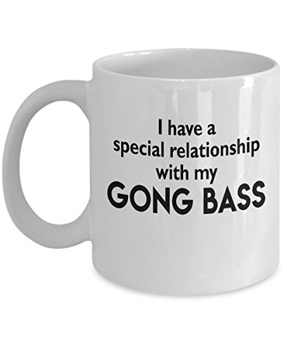 Gong Bass Mug - Special Musical Relationship - Funny 11oz or 15oz Ceramic Instrument Cup - Birthday Christmas Him Her Co-Worker Boss Friend Neighbor Musician Music Lover - Gong Java