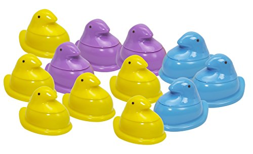 Little Kids PEEPS Bubble Chick Party Pack (12-Pack), Yellow/Blue/Pink