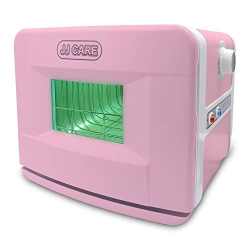 JJ CARE [PROFESSIONAL] UV Sterilizer for Salon 8L Capacity, 2-in1 UV Disinfection Box & Dry Heat Sterilizer Box, UV Sterilizer Cabinet for Spa Tabletop, Beauty Clinic, Barber Shops - Pink