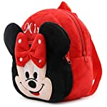 Krently Kids School Backpack Toddler Bag Plush Animal Cartoon Mini Travel Bag for Baby Girl Boy 1-6 Years (Red-Minnie)