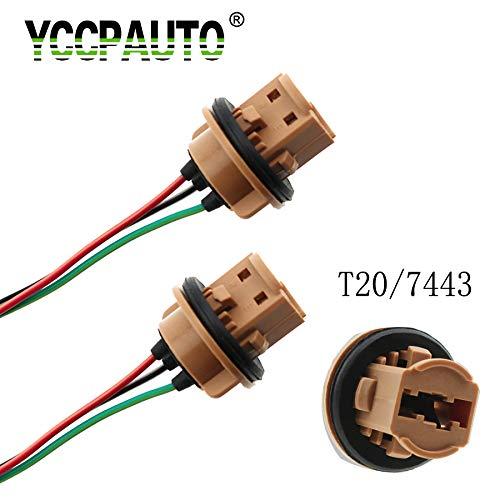 2 piezas T20 7440 7443 LED adaptador de foco Conector de enchufe de luz de estacionamiento para coche LED lámpara de...