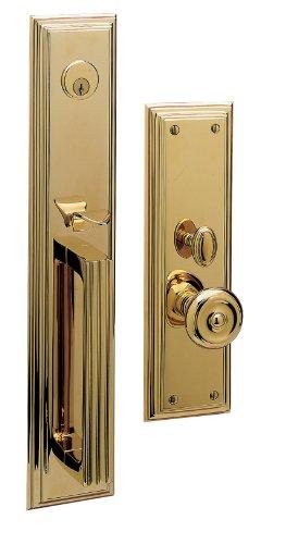 (Baldwin 6542.FD Tremont Dummy Handleset Trim Set, Lifetime Polished Brass)
