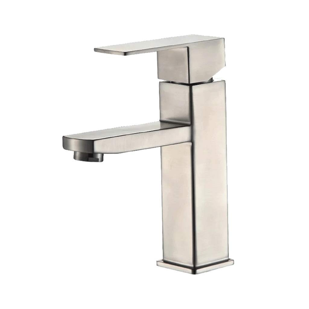 Qkefegfkgr 304 Stainless Steel Square Basin Mixer, Single Hole - for Any Modern Family (Color : -, Size : -)