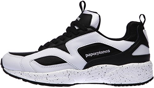 Paperplanes-1352 Unisex Ultra Breed Fashion Sneakers Shoes Black White SRf62L