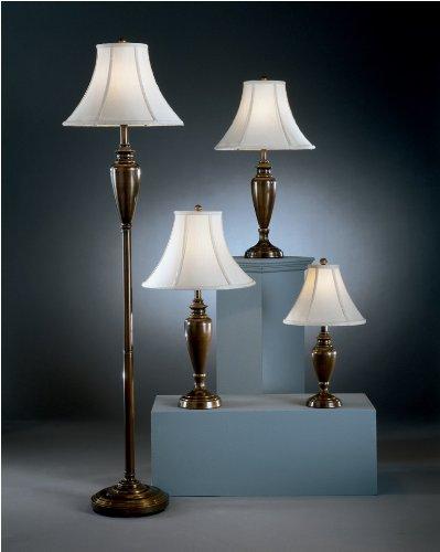 Traditional Copper Caron Metal Lamp 4pc Set Part No. 681306L