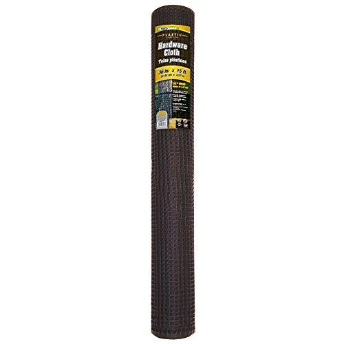 YARDGARD 889230A 3x15 1/2Mesh HDWE Cloth, 15 Foot Black,