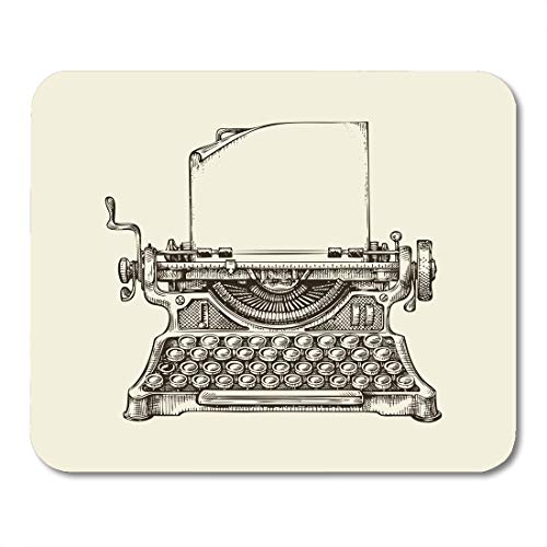 Emvency Mouse Pads Writer Vintage Typewriter Sketch Publishing Hand Old Drawn Editor Mousepad 9.5