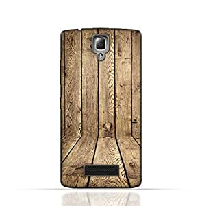 Lenovo A2010 TPU Silicone Case with Wood Texture Old Panels Pattern