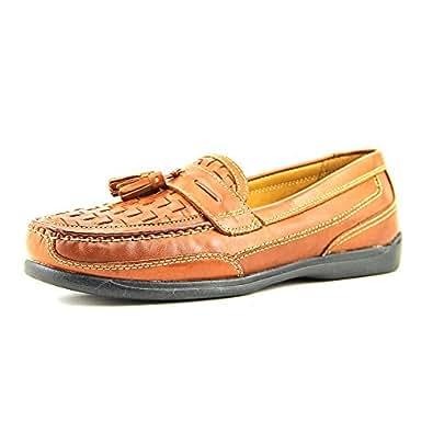 Dockers Men's Marilla Woven Shoes,Tan Burnishable Full Grain,8 M US