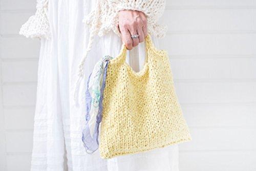 Loopy Mango DIY Knit Kit - Cotton Mini Market Bag (APRICOT) by Loopy Mango (Image #2)