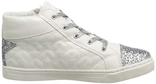 The Children's Place Girls' High Top Sneaker, White, TDDLR 7 Child US Toddler by The Children's Place (Image #7)