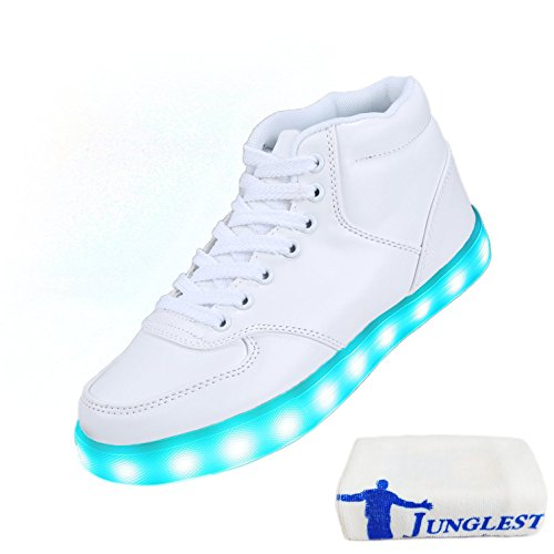 [Presente:pequeña toalla]Azul EU 41, manera de 7 Ni?os Zapatos Light Unisex colores LED