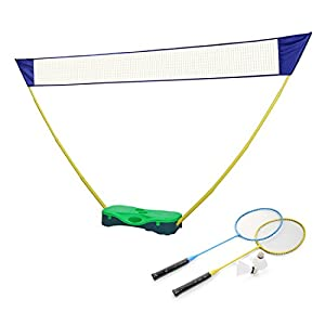 HLC 3 in 1 Outdoor Folding Adjustable Badminton Set,Tennis, Badminton, Volleyball Net with Stand, Battledore by HLC
