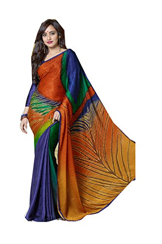 Sari Designer Sarees Traditional for Wear Facioun Party Indian Wedding Women Da Multi Purple 6 xP4FwY6