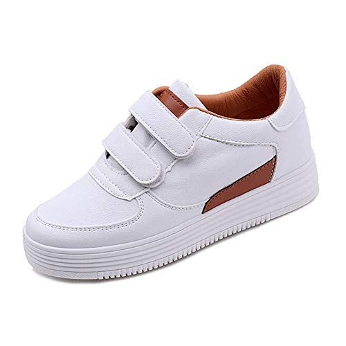 ZHZNVX Brown Black de Mujer PU Summer Sneakers Red Brown Zapatos Comfort Poliuretano Creepers BBRrOS