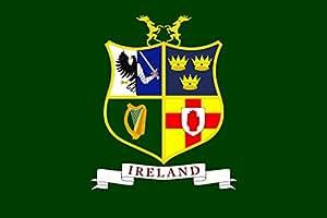 magFlags Bandera Large Ireland hockey team | Field hockey team of Ireland Four Provinces coat of arms - Ulster | bandera paisaje | 1.35m² | 90x150cm