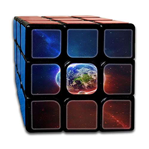 Partrest Fire and Ice Planet Rubik Cube Super-Durable with Vivid Colors 5.5x5.5 Cube Easy Turning and Smooth Play Magic Cube Puzzle -