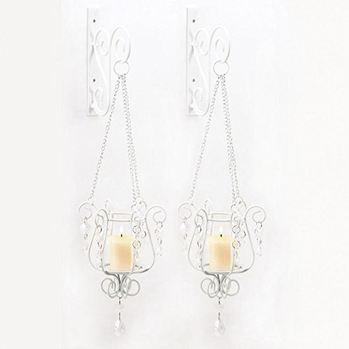Wall Sconces, Contemporary Pendant Hanging Sconce Candle Holder Duo For Votives (Da Modern Sconce)