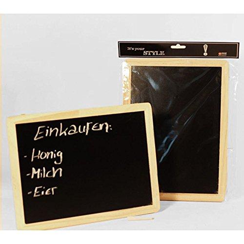 Kreidetafel zum Aufhängen 20 x 30 cm (H x B) Diagonale Schreibfläche 32 cm / 12,6 Zoll Schreibtafel aus FSC Holz inklusive Kreide - SPARSETS