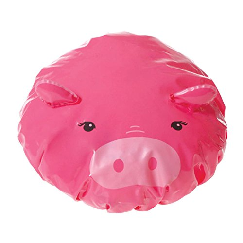 UPC 636581124844, Spa Sister One Cute Animal Shower Cap (Pig)