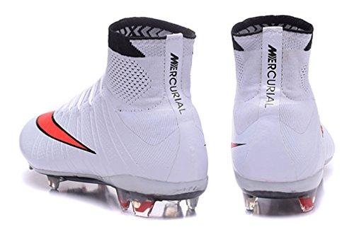 Herren Mercurial superfly X FG mit ACC weiß High Top Fußball Schuhe Fußball Stiefel