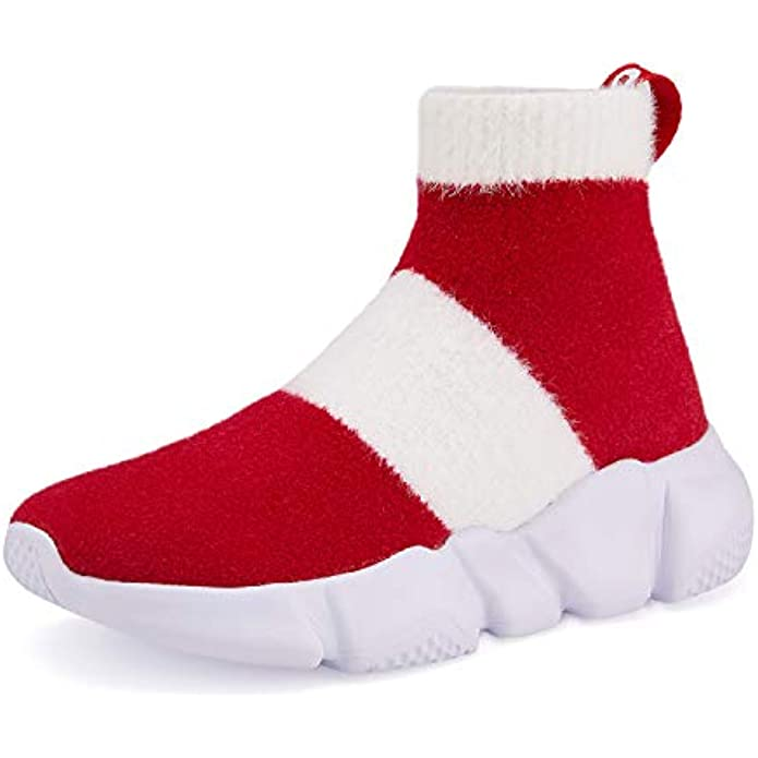 Casbeam Boys Fashion Sock Shoes Breathable Lightweight Casual Sports Walking Sneakers Slip on Shoes