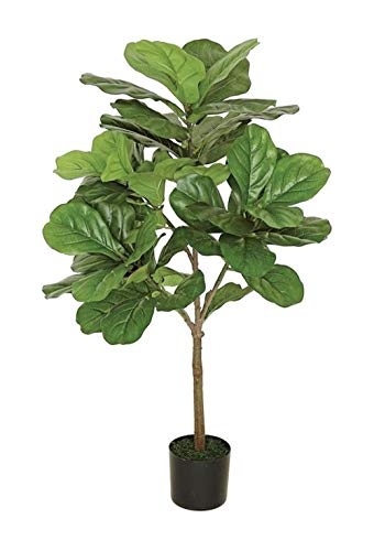 Ella and Lulu Dessign Large Fiddle Leaf 3' Tall Tree 38-in Green