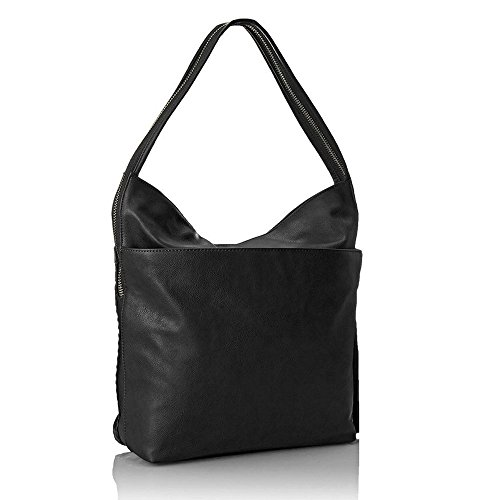 'bev' Sophisticated Large Black Hobo Handbag By Big Buddha Bb-bev-blk