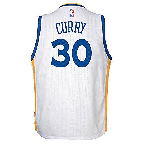 Adidas Golden State Warriors Curry Swingman Home NBA Fan Basketball Jersey - White - Youth Kids - XL